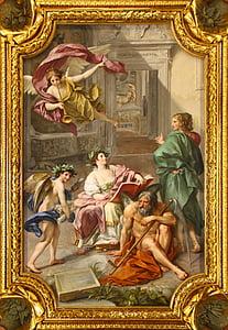 fresco, mural, fresh painting, anton raphael mengs, angel, painting