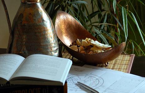 opened book near pen