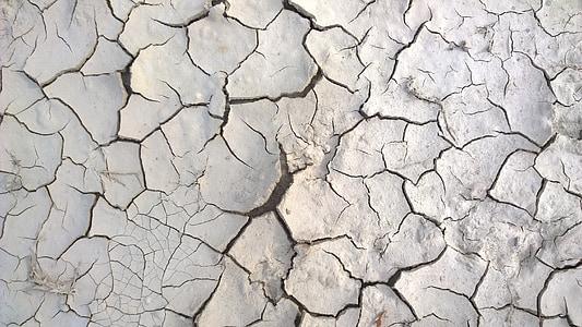 white cracked soil