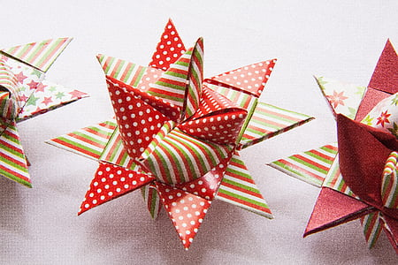 closeup photo of polka-dot and striped bow