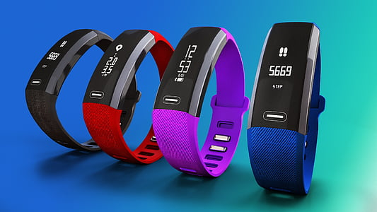 four fitness bands