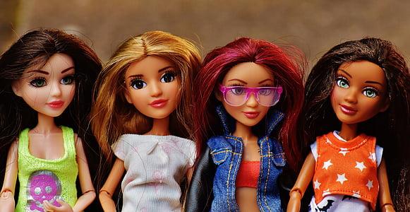 several dolls