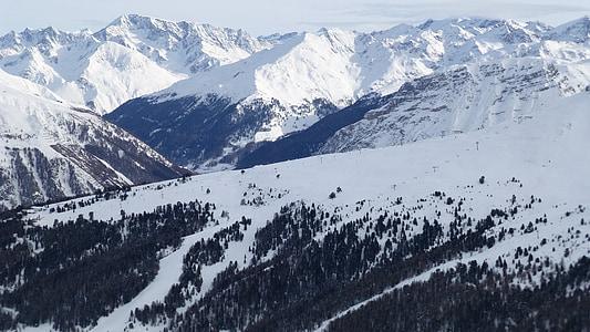 snowcap mountains taken at daytime