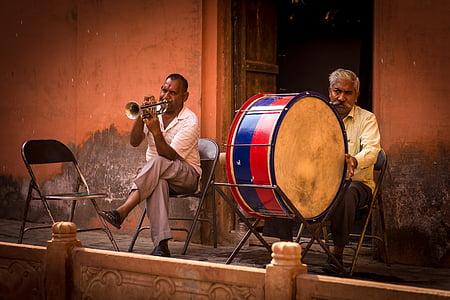 indians, musician, timpani, trumpeter