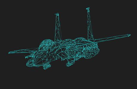 green digital aircraft wallpaper