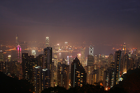 city scale at nighttime