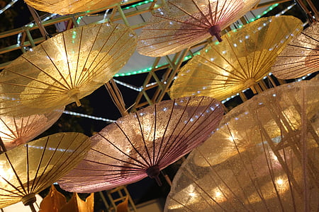powered on paper umbrella lamp lot