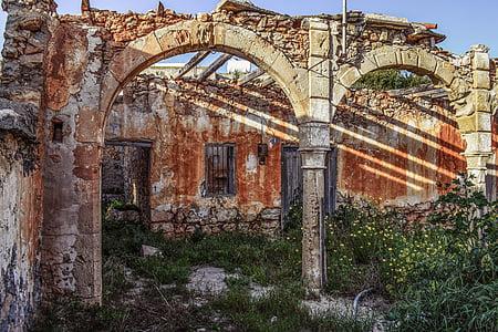 gray and brown ruins