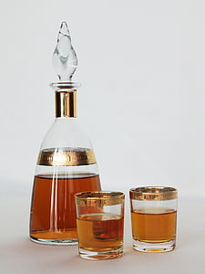 clear glass decanter set