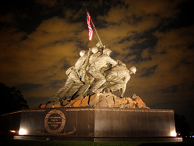 United States Marine Memorial Corps war statue