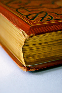 closeup photo of hard-bound book