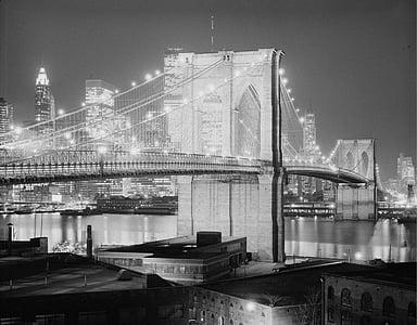 Golden Gate bridge in grayscale shot