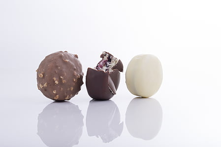 three round chocolates