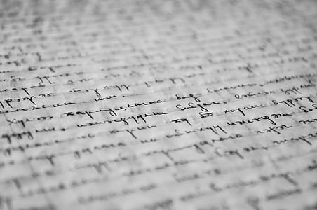 hand written text on paper