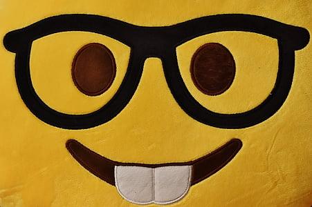 Facebook emoji pillow