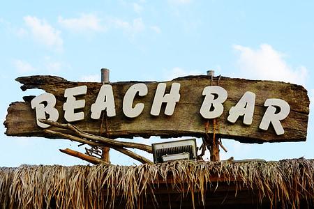 Beach Bar signage