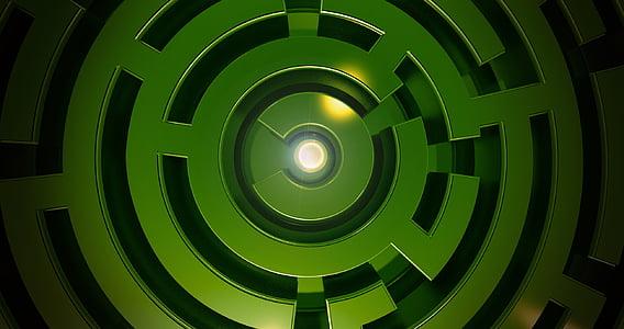 round green maze