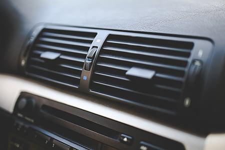 black car AC vents
