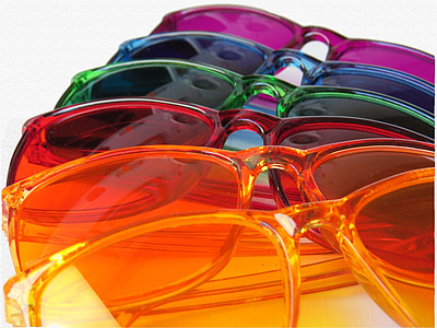 assorted-color sunglasses