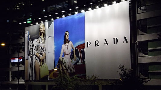 Prada billboard signg