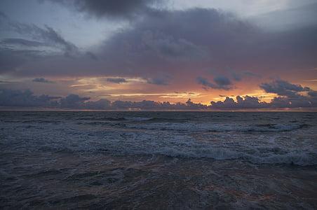photo of beach at sunset