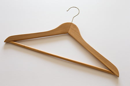 brown wooden clothes hanger