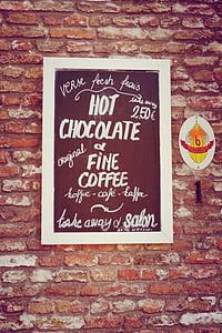 Hot Chocolate signage