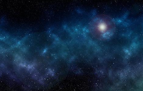 black and blue galaxy digital wallpaper