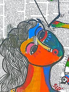 human abstract painting