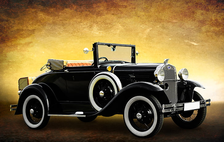 photo of black Ford Model T