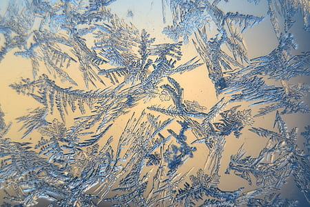 snow crystals, winter, frosty, frozen, macro, backgrounds