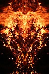 dragon flame poster