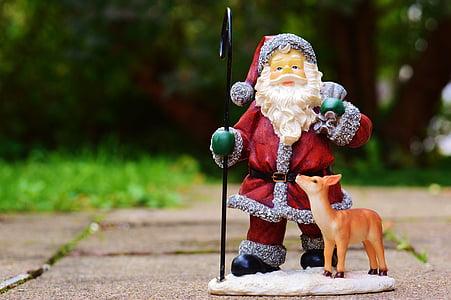 Santa Claus ceramic figurine outdoor
