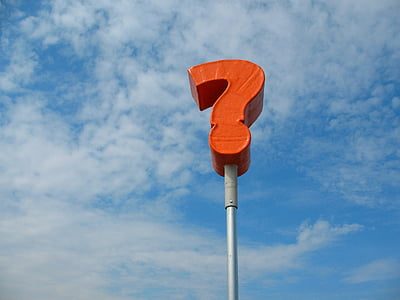 orange question mark sign