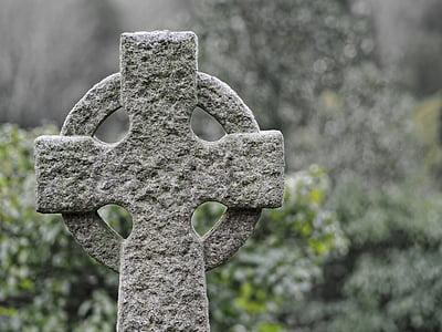gray concrete cross