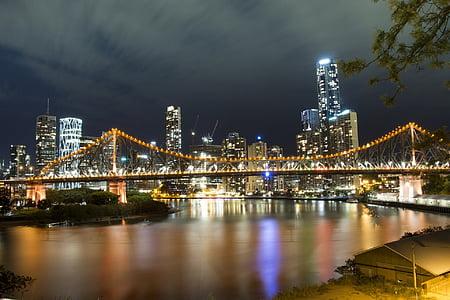 skyline photography of cantilever bridge