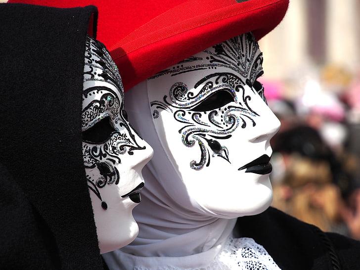 Royalty-Free photo: Gray and gold masquerade mask | PickPik