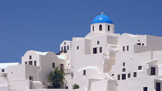 white and blue dome building at daytime