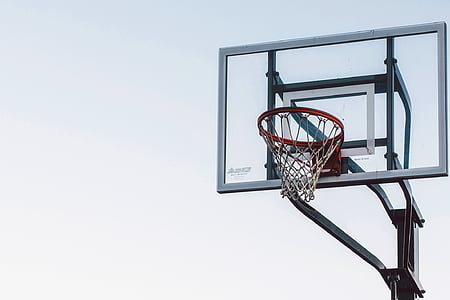 black and gray basketball hoop during daytime