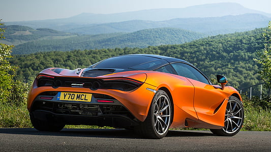orange McLaren 720S coupe