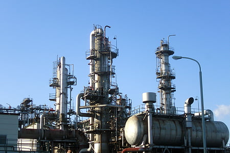 gray metal industrial factory