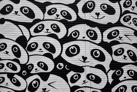 panda digital wallpaper