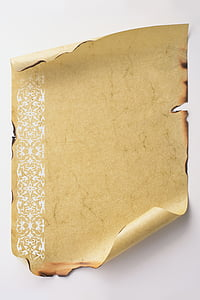 brown scroll paper