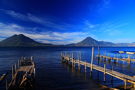 guatemala, beautiful, lakes, mountain, sky, outdoors