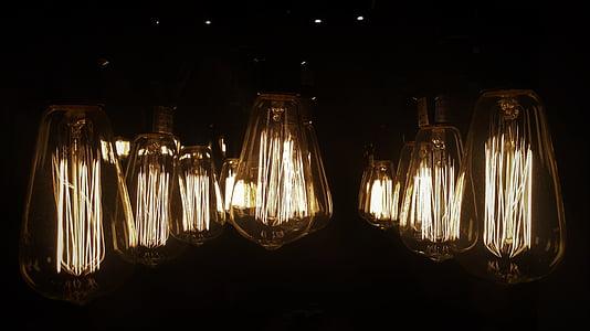 yellow light bulbs