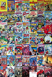 assorted-title comic cover books