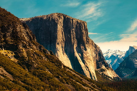 white and brown rock formation mountain photo