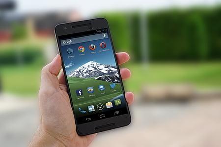 grey smartphone