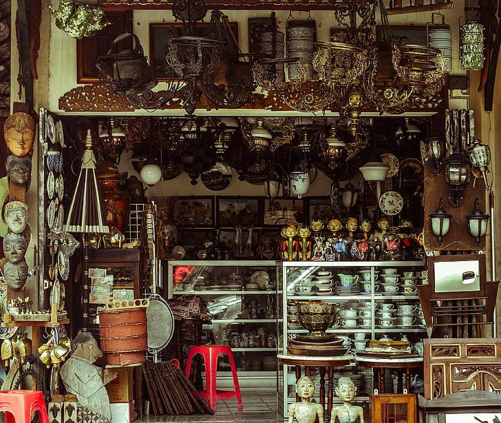antique shop facade