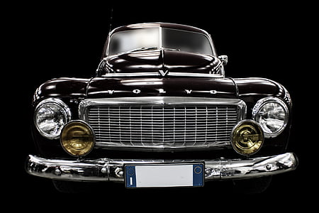 classic black Volvo car